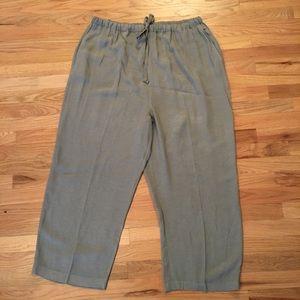Eileen Fisher cotton tie waist pants size 2x